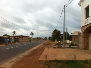 Main road outside of Abela