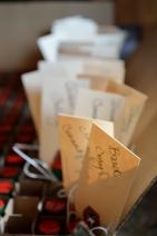mini tobascos for escourt cards!